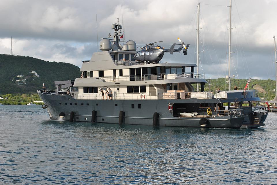 Megayacht Superyacht Helicopter Boat Crew