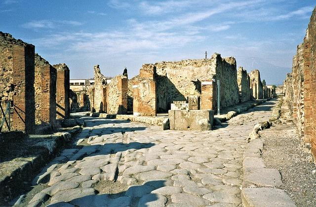 photo gratuite pompei ruines italie volcan image