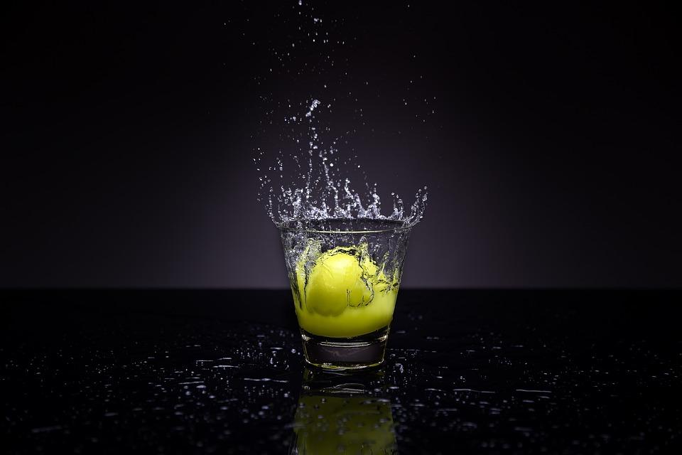 El Agua, Bienvenida, Limón, Vidrio, Líquido, Frutas