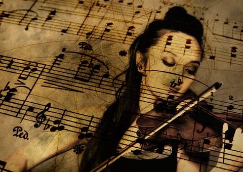 Música Guitarra Violín Clave De Sol Sonido