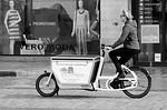 woman, tricycle, means of transport