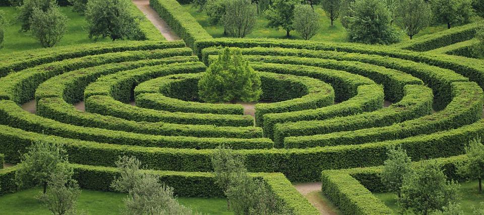 Parc, Labyrinthe, Vert