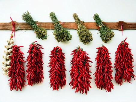 Dried Herbs, Chili, Garlic, Oregano