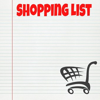 shopping list list shopping