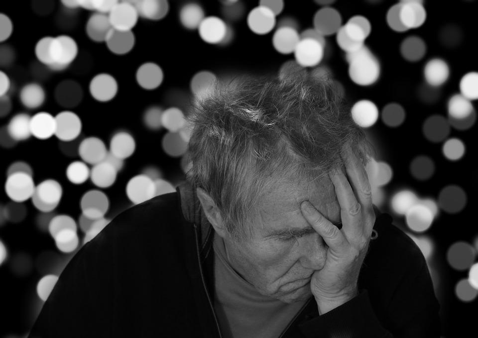 Morbo Di Alzheimer, Uomo, Ritratto, Faccia