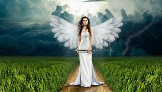 Angel, Nature, Clouds, Cloudiness