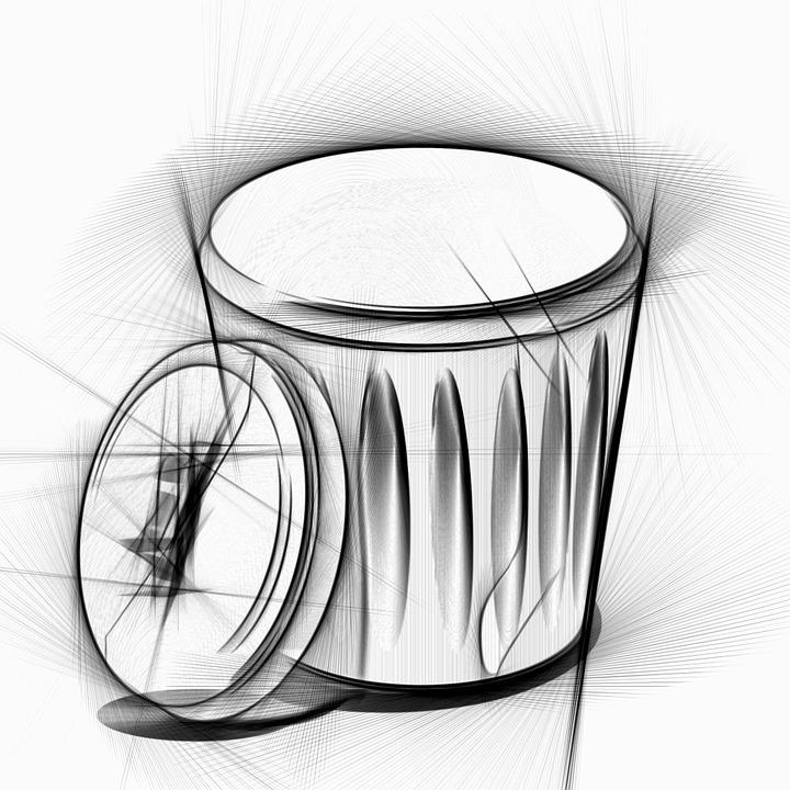 Poubelle dessin image gratuite sur pixabay - Dessin de poubelle ...