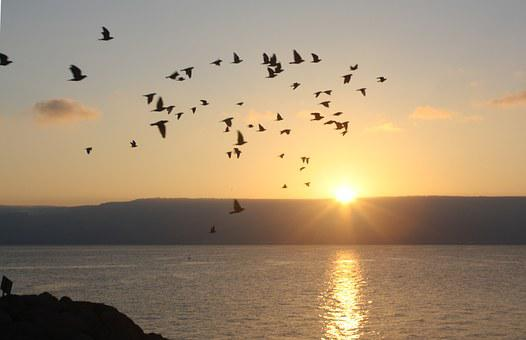 Galiläa, Israel, Sonnenaufgang