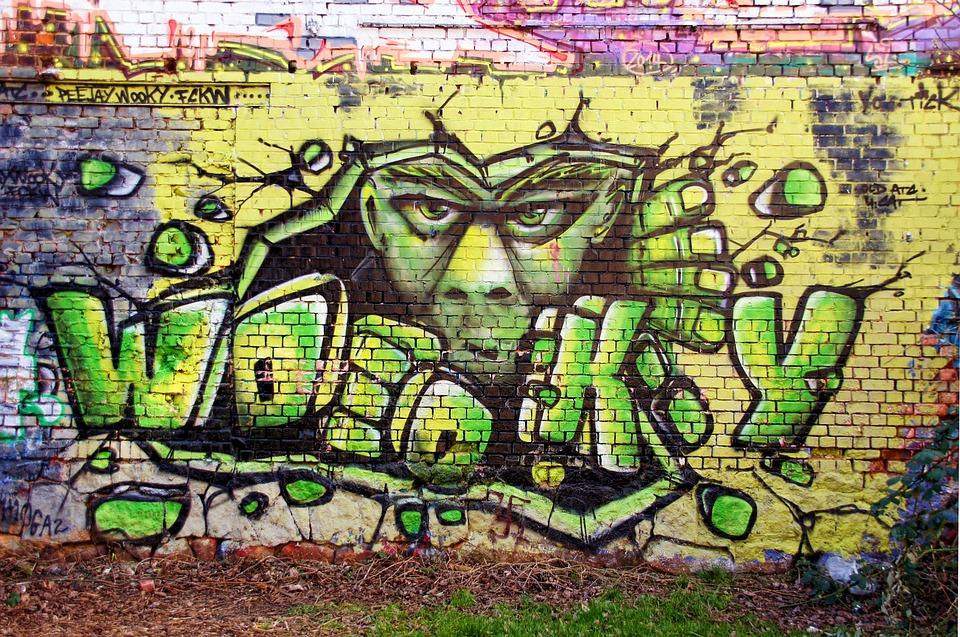 Spray Paint Wall Graffitti