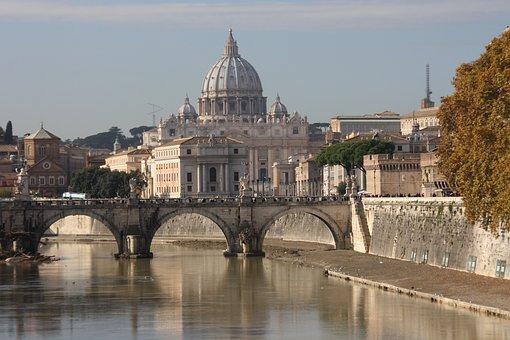 St Peter'S Basilica, Rome, Bridge, Italy