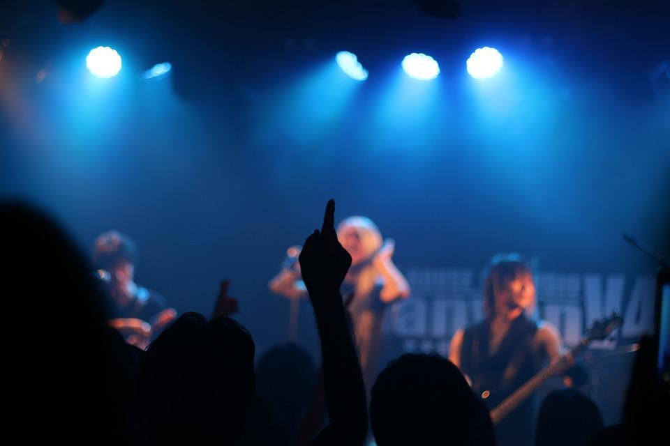 コンサート, 音楽, ライブパフォーマンス, ライブ, ライブハウス, 影, 人々, ファン
