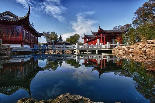 Japanese Garden Pond Relaxation Koi Asia F