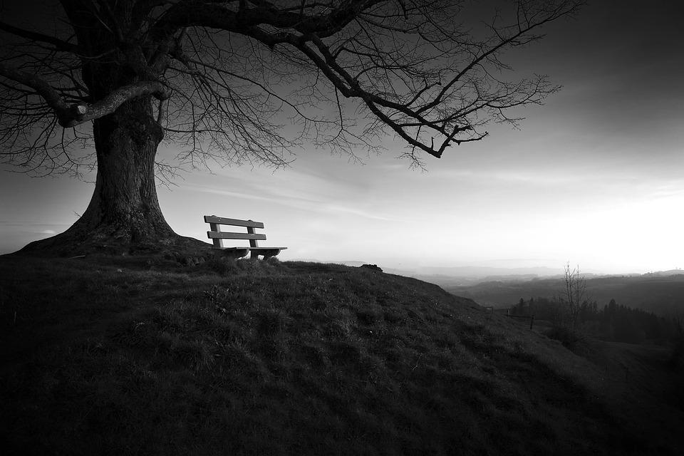 Imagen a blanco y negro, representa la soledad