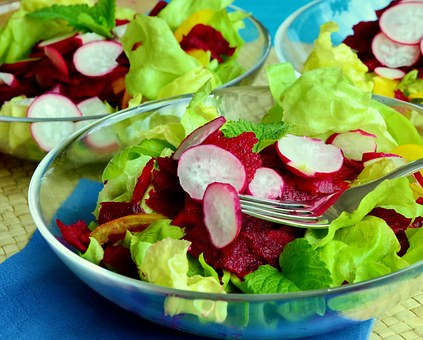 Salad, Lettuce, Mixed Salad, Beetroot