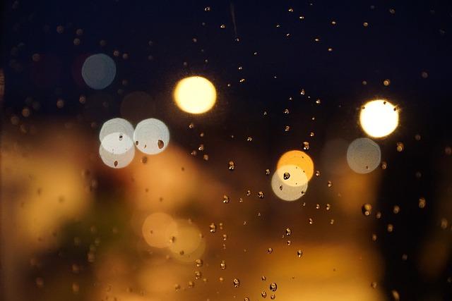Night Raindrop Points Of Light 183 Free Photo On Pixabay
