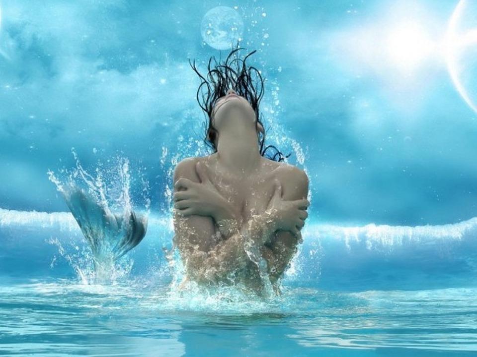 Bien-aimé Illustration gratuite: Sirène, Siren, Fond D'Écran - Image  ES88