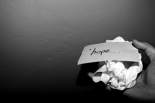 Paper, Crushed, Hope, Crumpled, Old