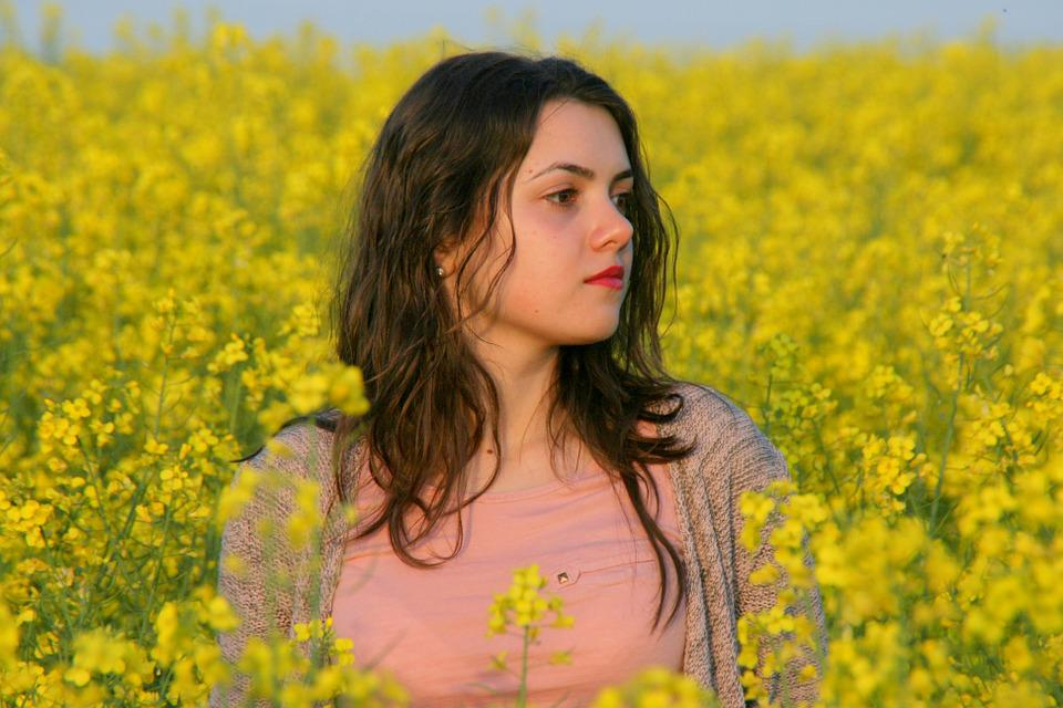 Free Photo Girl Portrait Flowers Yellow Free Image