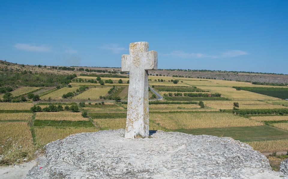 Landschaft, Kreuz