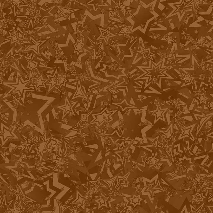 Brown Chaotic Star Pattern Wallpaper Repeat