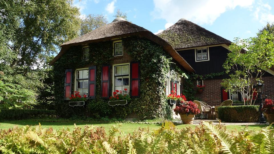 Huis, Giethoorn, Gelderland, Riet, Rietdak, Landelijk