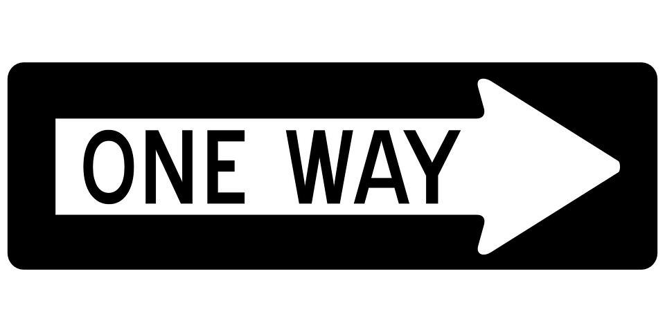 Arrow One Way Right Free Vector Graphic On Pixabay