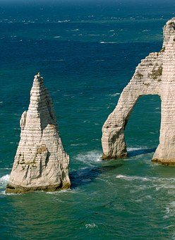 Etretat, Normandy, Sea, Water, France