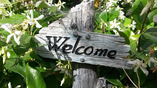 Welcome Sign, Garden Sign, Garden Decor