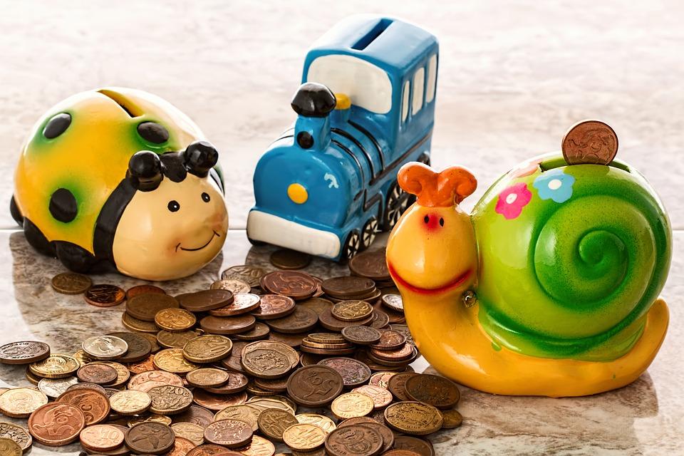 Piggy Bank, Besparingen, Munten, Cash, Penny Bank