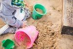 sandpit, child, toys