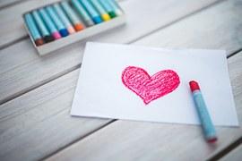 Heart, Card, Pastels, Figure