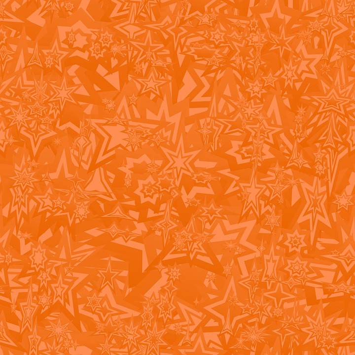 Orange Chaotische Tapete Muster Stern Polygon