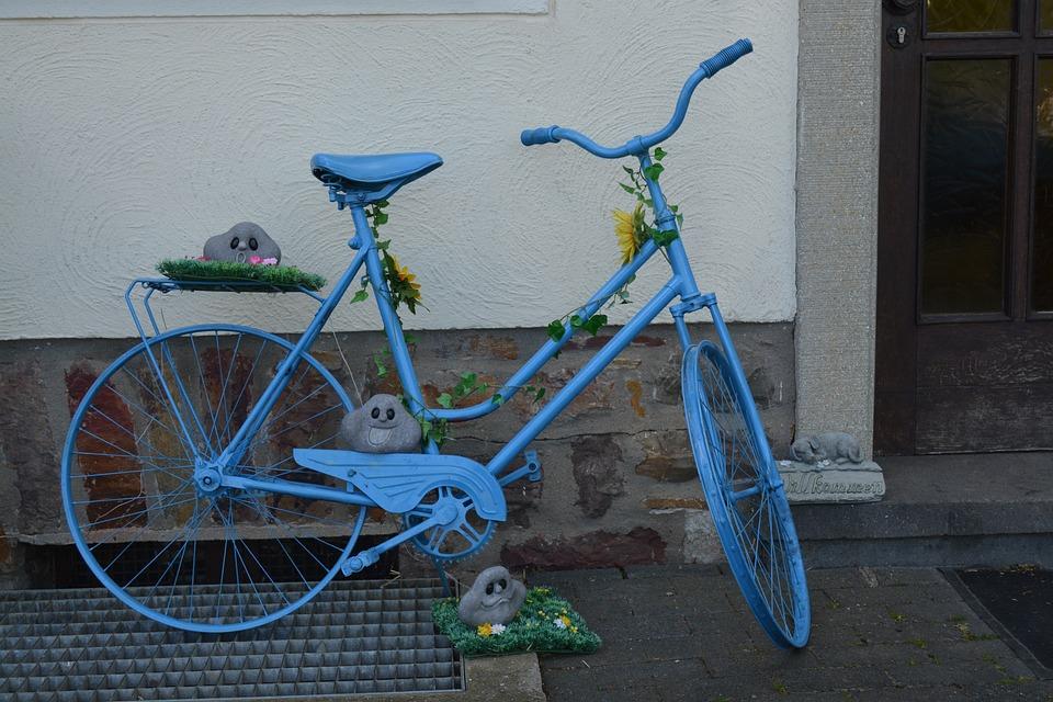 kostenloses foto fahrrad blau deko dekoration. Black Bedroom Furniture Sets. Home Design Ideas