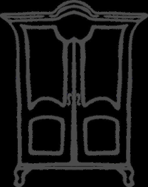 Image vectorielle gratuite placard vaisselier meubles for Schrank comic