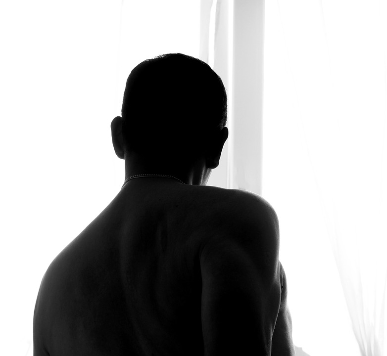 Man Silhouette Black And White Male Emotion