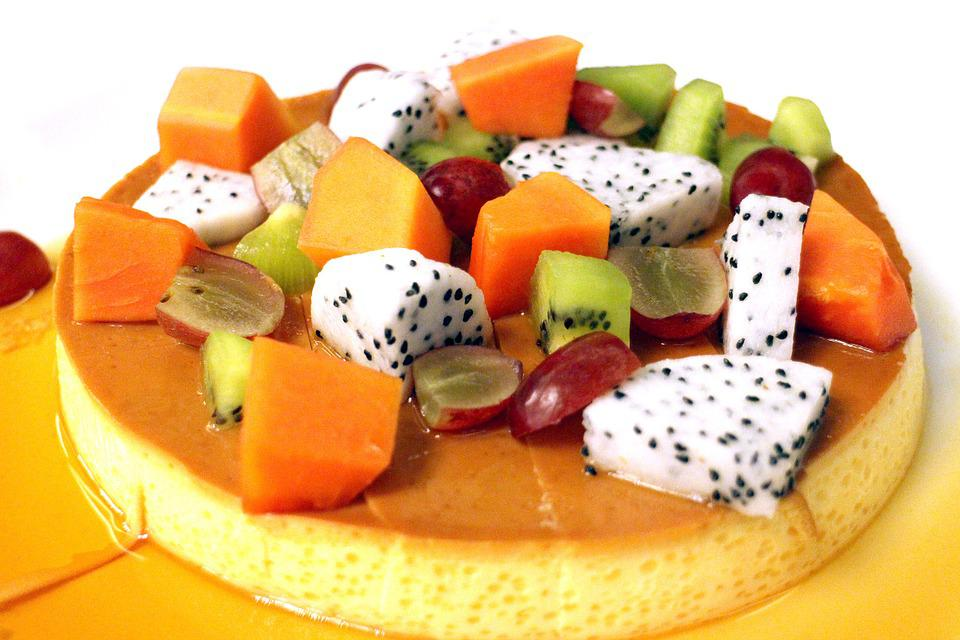 Obst Kuchen Vanillepudding Kostenloses Foto Auf Pixabay