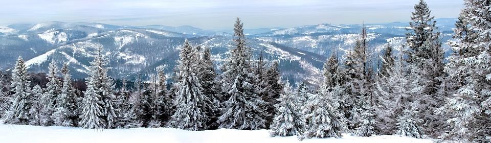 Photo Gratuite Hiver Paysage Neige Montagnes Image