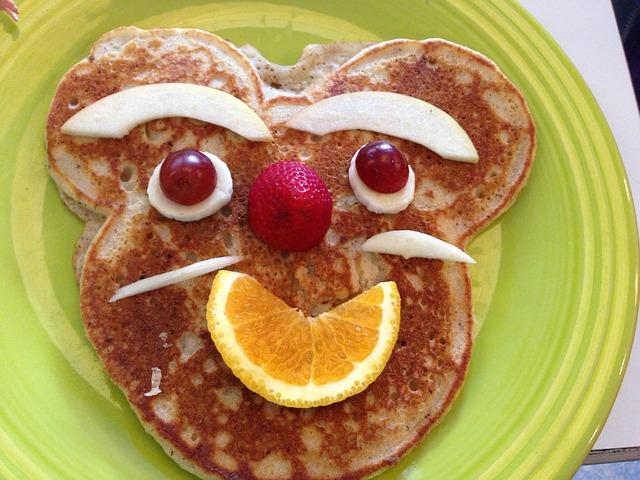 Orange Fruit Vector Pancake Face Breakfast...