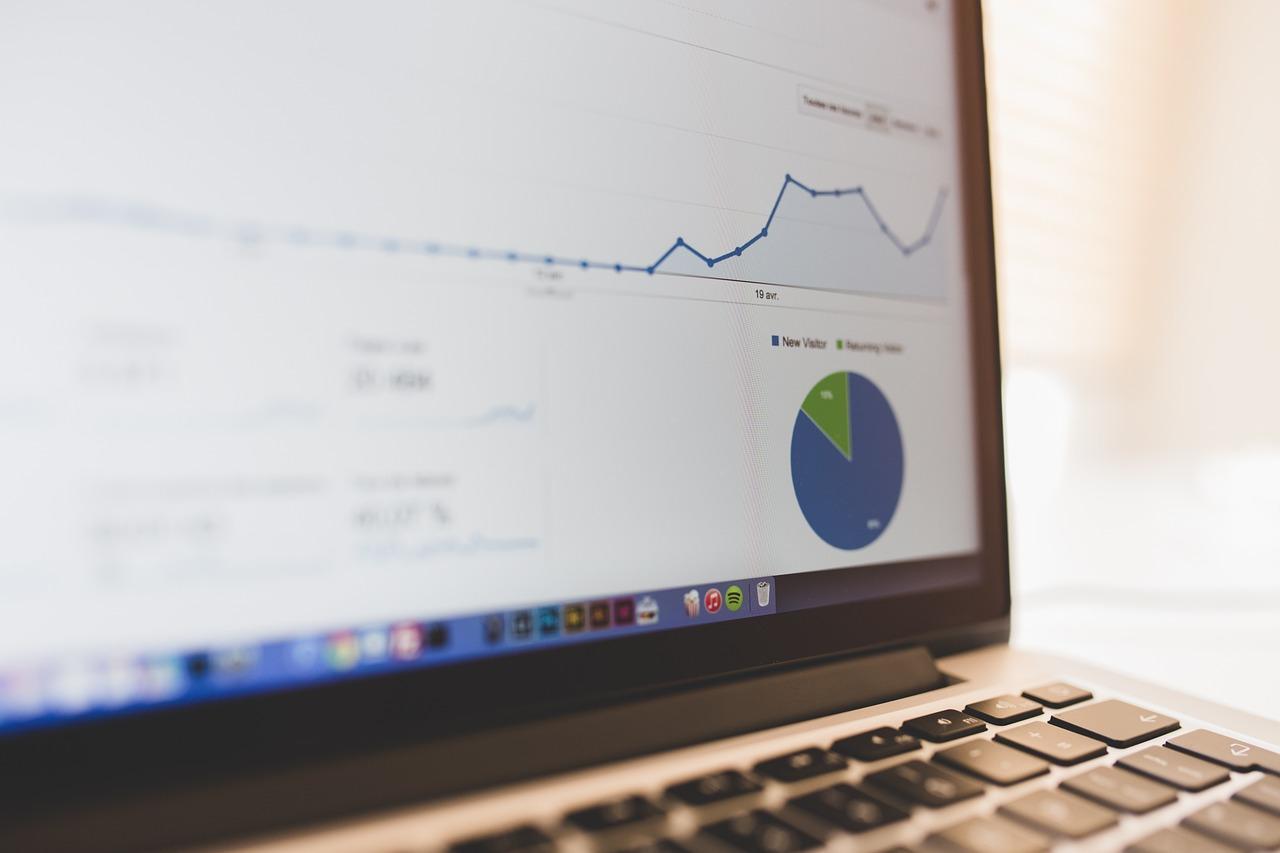 Image of website analytics on laptop