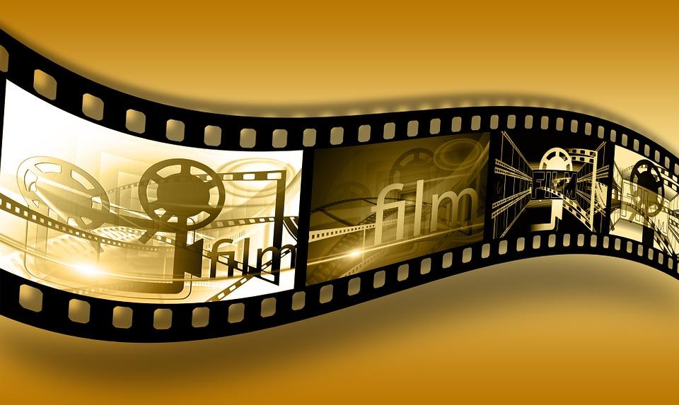 映画のフィルムの写真