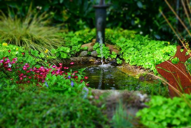 Garten wasser teich kostenloses foto auf pixabay - Kleiner gartenbrunnen ...