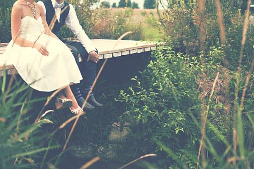 新郎新婦, カップル, 花嫁, 新郎, 結婚式, ガウン, タキシード, 結婚