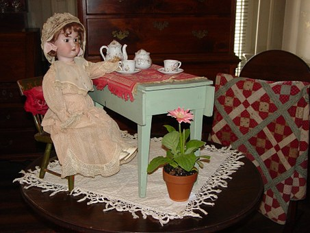 Doll Tea Party Girl Toy Dress Childhood Cu