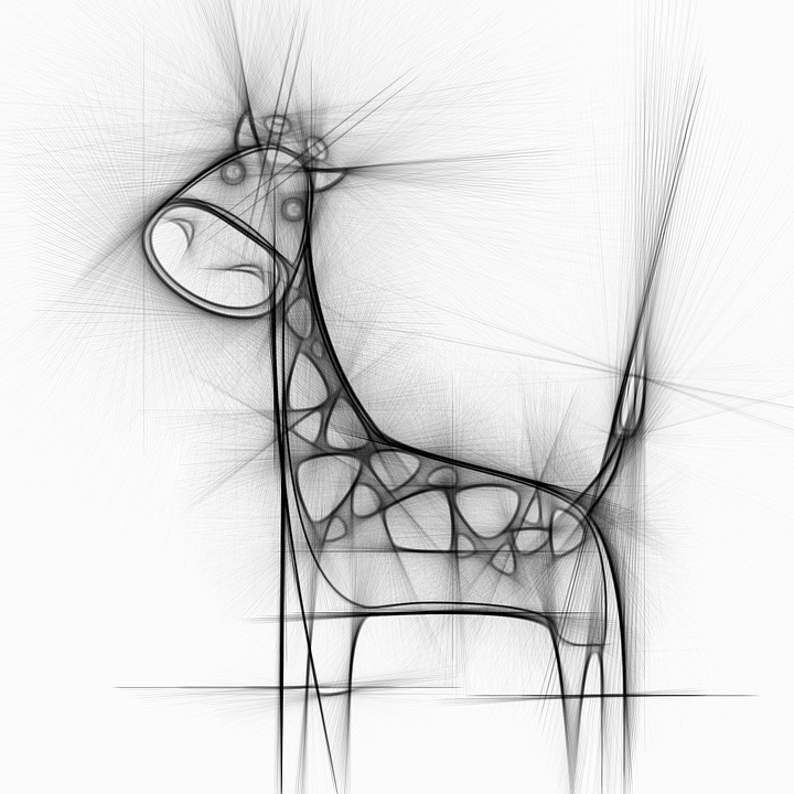 Abstract Giraffe Image Drawing | Drawing Images