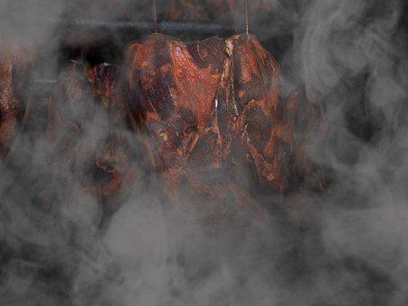 Carne ahumada, jamón, jamón ahumado, humo, comer