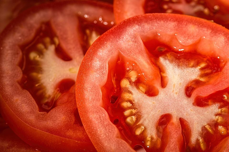 Tomate, vermelho, salada, comida, fresco, vegetal, saudável