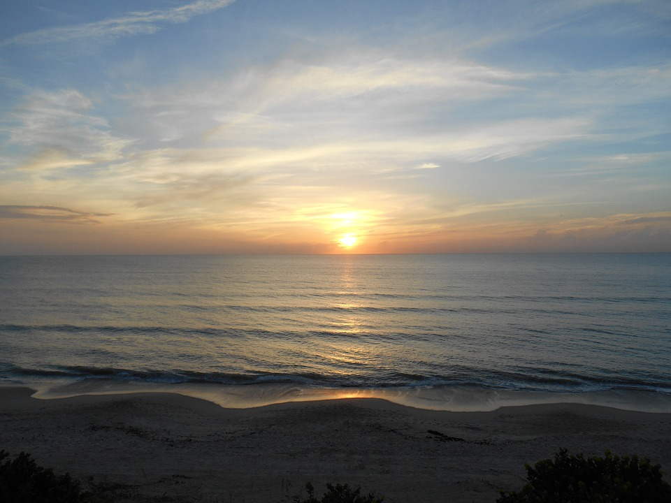Sunrise Florida Ocean Sea Free Photo On Pixabay