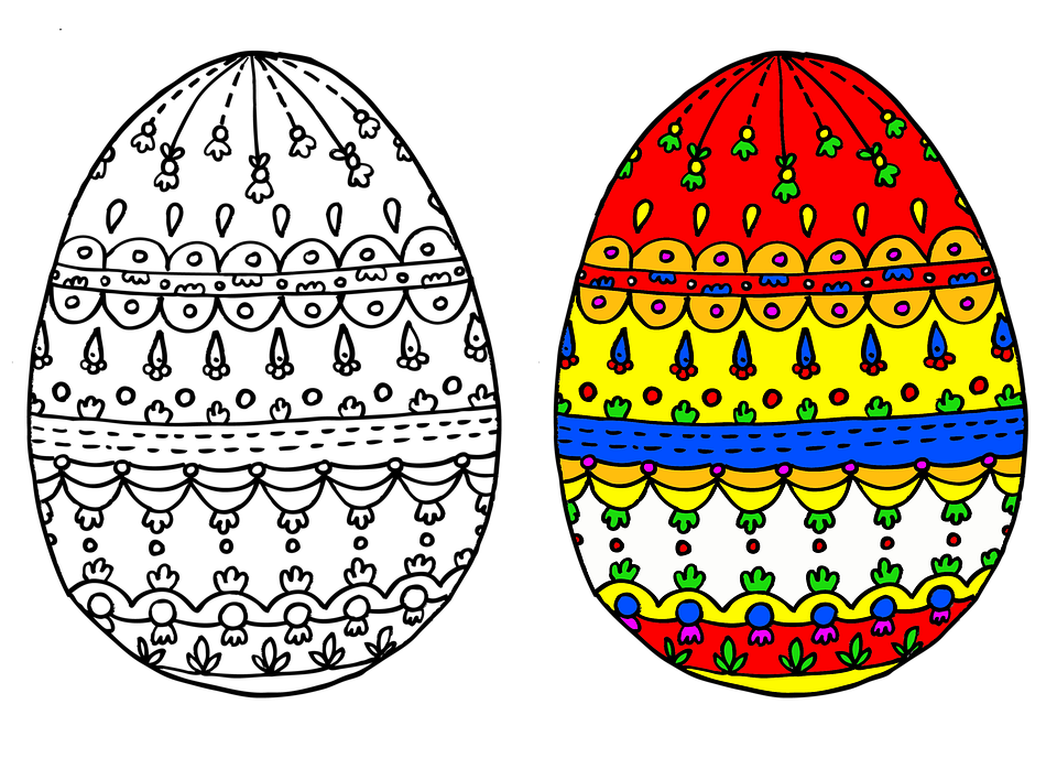 Easter Eggs Egg Coloring · Free image on Pixabay