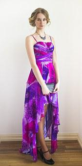 Girl Blonde Moscow Dress Model Purple Fash