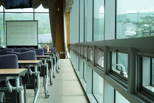 窓, ビジネス, オフィス, セミナー, 会社, ホール, 教室